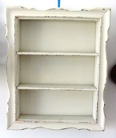 shabby chic shelves - Just what I need in my little    cubby hole area!