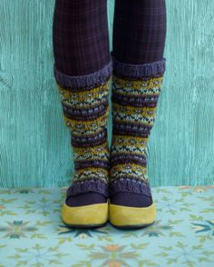 Limelight Stirrup Socks. Another great beginning Fair Isle pattern, so lovely!