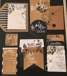Using the Minc to customize a wedding! From invitations to the decorations the result of foil is stunning! Foil Wedding Invitations, Destination Wedding Invitations, Wedding Invitation Wording, Wedding Planner, Invitation Ideas, Invites, Diy Wedding, Wedding Events, Wedding Ideas