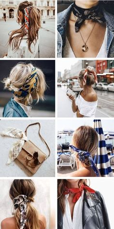 Ideas Bandana, Scarf Styles, Hair Styles, Outfit Styles, Bandana Girl, Bandana Outfit, Bandana Hairstyles, Trendy Hairstyles, Stylish Clothes
