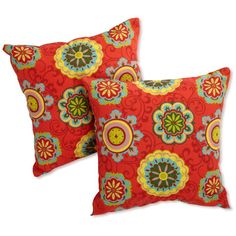 Darby Home Co Gregory All Weather Resistant Outdoor Throw Pillow Color: Montfleuri Sangria