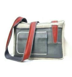 Upcycled bag made of fire hoses