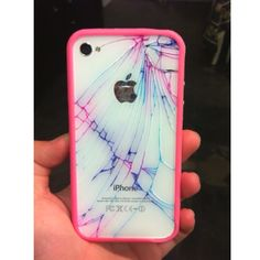 What to do with a cracked IPhone. Put a sharpie in the cracks and press on it and let it bleed. Then take another color and repeat the above.