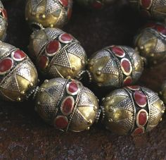 Items similar to Afghanistan- Coin Silver Tribal Bead, Red Resin on Etsy Ethnic Jewelry, Beaded Jewelry, Western Jewelry, Hippie Jewelry, Wire Jewelry, Gemstone Jewelry, Inexpensive Jewelry, Cheap Jewelry, Ancient Jewelry
