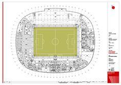 Plano del Sótano-2 del nuevo estadio #sanmames
