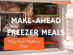 Make-ahead freezer meals make weeknights a breeze! thesproutingseed.com