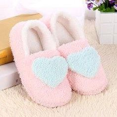 Gamiss - Gamiss Heart Pattern Cotton House Slippers - AdoreWe.com