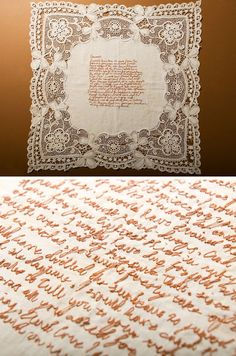 A stitched love letter, by Rosalind Wyatt