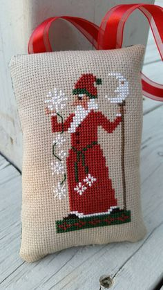 Old World Santa Ornament Cross Stitch Holiday by Stitchcrafts