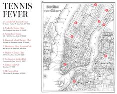 Where to play tennis in #NYC. #tennis