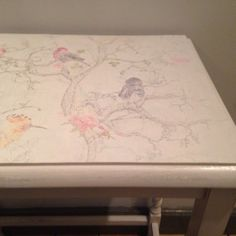 Check out this item in my Etsy shop https://www.etsy.com/listing/208120675/alouette-hand-painted-side-table-in