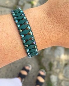 Midnight Green Bracelet 💚 #green #jewelry #bracelet