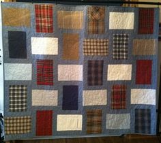 Take those special shirts that belonged to Dad and turn them into a quilt!  Doesn't always have to be t-shirts.
