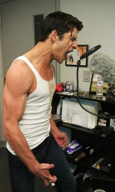 Tyler Posey recording his growls.