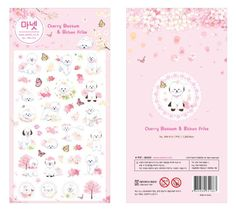 Aliexpress.com : Buy Manet Genuine Korean Import Bichon Frise Sakura Decorative Stickers Adhesive Stickers Scrapbooking DIY Decoration Diary Stickers from Reliable sticker chrome suppliers on House of Novelty