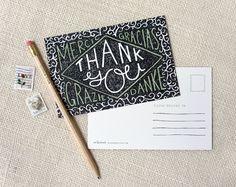 Jeu de carte postale de 10 - Merci multilingue