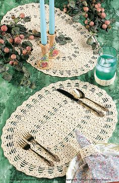 Ravelry: Table Setting pattern by Ann Parnell - free pattern. PDF SAVED.