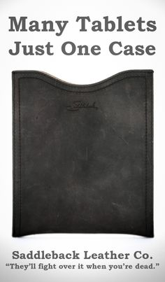 Saddleback Leather iPad Gadget Sleeve in Carbon | 100 Year Warranty | $61.00