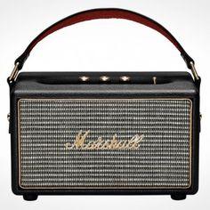 Marshall Kilburn Portable Bluetooth Speaker - Christmas Gifts For The Husband Mini Bluetooth Speaker, Stereo Speakers, Portable Speakers, Audiophile, Mobile Speaker, Class D Amplifier, The Marshall, Marshall Speaker, Bluetooth Speakers