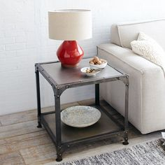 Antique Finish End Table