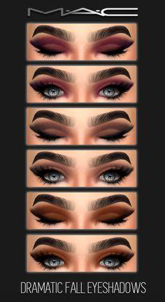 Sims 4 CC's - The Best: Dramatic Fall Eye-shadows by MAC Makeup - makeup products - makeup tutorial Sims 4 Mac, Sims 2, Los Sims 4 Mods, Kosmetik Online Shop, Sims 4 Cc Eyes, The Sims 4 Skin, The Sims 4 Cabelos, Muebles Sims 4 Cc, Pelo Sims