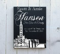 Cool a  Personalized LDS Temple Art on Canvas - Mormon Wedding Gifts / http://livinglds.com/personalized-lds-temple-art-on-canvas-mormon-wedding-gifts-4/