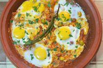 Merguez Sausage and Egg Tagine in Tomato Sauce