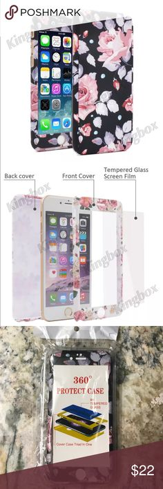 iPhone 6/6s flower case Full protection. Hard acrylic. Smooth touch. Tempered glass screen protector included. Price is firm Accessories Laptop Cases
