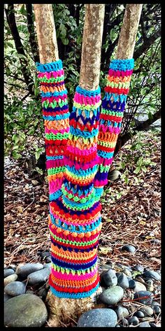 Yarn bombed My Own Tree by chimaeraphoto, via Flickr