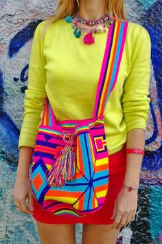 My Style: Wayuu tribal bag must-have for winter Mochila Crochet, Tribal Bags, Tapestry Crochet Patterns, H&m Bags, Ethnic Bag, Tapestry Bag, Cloth Bags, Free Crochet, My Style