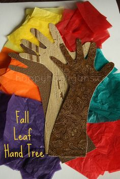 fall leaf hand tree