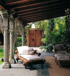 Covered outdoor patio. - mediterranean - patio - COLECCION ALEXANDRA