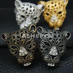Panther-Head-Adjustable-Ring-Mens-Womens-Unisex-Animal-Jewelry-Leopard-Jaguar