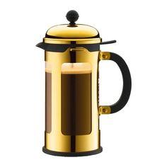 CHAMBORD   French Press coffee maker, 8 cup, 1.0 l, 34 oz, s/s Gold   Bodum Online Shop