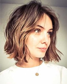 52 Sexy Long Bob Hairstyles You Should Try - Hairstyles Trends Short Layered Bob Haircuts, Short Haircuts With Bangs, Short Haircut With Layers, Chin Length Haircuts, Layered Bob With Bangs, Bob Haircuts For Women, Short Bangs, Bob Haircut For Fine Hair, Bob Hairstyles For Fine Hair