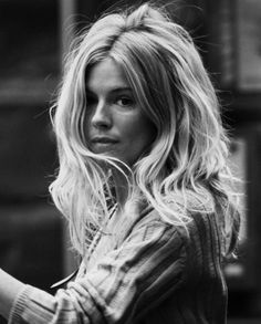 Messy Hair on Purpose  Sienna Miller muse and sigh