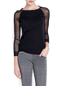 Jersey mangas semitransparentes ref. 13023563 25,99€