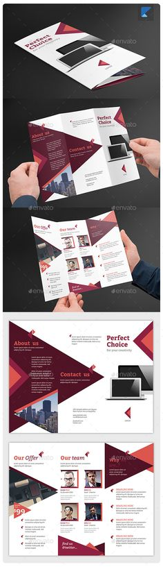 Corporate Trifold Brochure V38 - Corporate Brochure Template Vector AI. Download here: http://graphicriver.net/item/corporate-trifold-brochure-v38/11654101?s_rank=1800&ref=yinkira