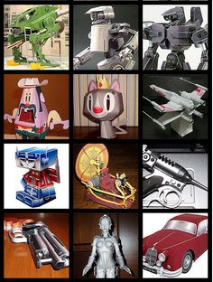 100 Exceptionally Cool Free Papercraft Models and Toys