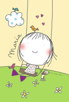 Life is good Art Drawings For Kids, Drawing For Kids, Cute Drawings, Cute Images, Cute Pictures, Happy Paintings, Stick Figures, Cute Illustration, Drawing People