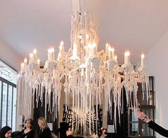 Poltrano Frau Dripping Candle Chandelier looked a lot like laby chandiliers Candle Chandelier, Black Chandelier, Bedroom Candles, Alba, Diy Painting, Light Up, Interior Decorating, Ceiling Lights, Home Decor