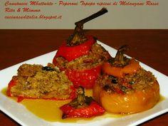 Peperoni Topepo Ripieni di Melanzane Rosse - http://cucinasuditalia.blogspot.it/2012/10/peperoni-topepo-ripieni-di-melanzane.html