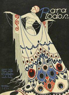 iL Illustration cover by José Carlos (1884-1950), Sept. 25, 1926, Para Todos…, #…
