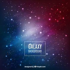 Galaxy background design Free Vector