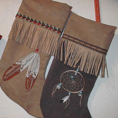 Native American Christmas stockings by mjosoriginals on Etsy