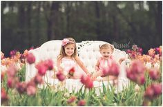 Outdoor family photo of little girls in the tulip fields on a vintage couch photographed by Massart Photography, a Rhode Island newborn, family and wedding photographer. Wedding Photography Styles, Photography Photos, Maternity Photography, Family Photography, Family Photo Props, Family Pictures, Outdoor Family Photos, Portrait Inspiration, Family Portraits
