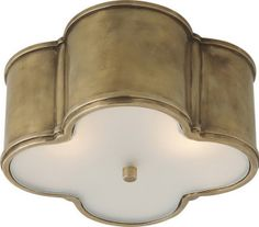 bathroom semi-flush quatrefoil light