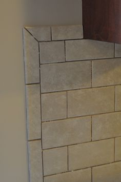 Emser tile with schluter edge to finish it off nicely How to end
