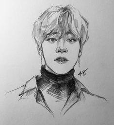 Soft Jimin Fanart, Kpop Fanart, Pencil Drawing Inspiration, Drawing Ideas, Cartoon Fan, Kpop Drawings, Human Drawing, Korean Art, Wow Art