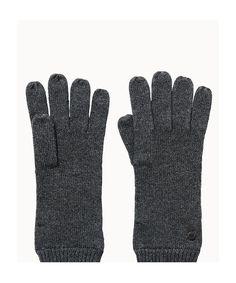 Zweifarbige Strickhandschuhe mit glatter Oberfläche aus einer hochwertigen Materialkombination. Die Handschuhe sind sehr weich und halten angenehm warm. Am Abschluss ist eine Rippenstruktur verarbeitet. Aus 37% Viskose, 30% Baumwolle, 18% Polyamid, 10% Wolle und 5% Kaschmir....